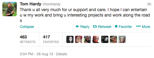 TomHardy Twitter